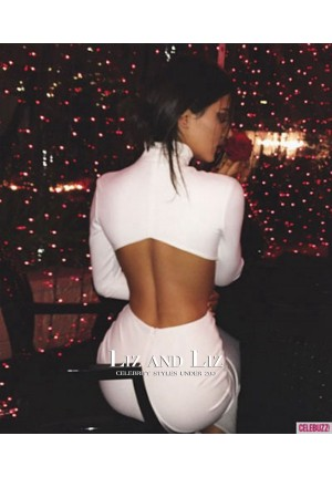 Kendall Jenner White Cut-out Celebrity Prom Dress Christmas Eve Party