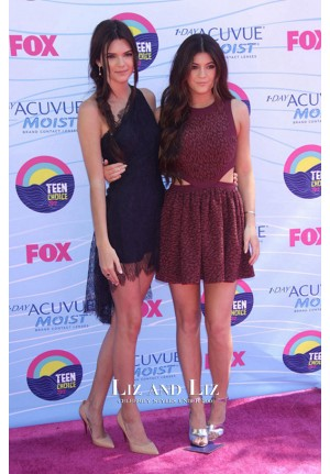 Kendall Jenner Short Black Cocktail Party Dress Teen Choice Awards 2012