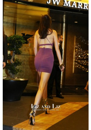 Kendall Jenner Short Purple Two-piece Cocktail Party Dress amfAR Cannes 2015