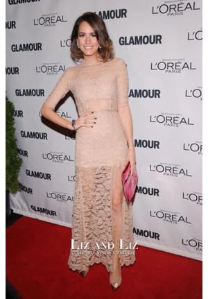 Louise Roe Nude Lace Celebrity Dresses Glamour Women of the Year 2012