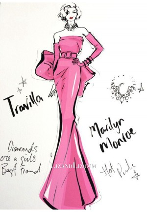Marilyn Monroe Inspired Pink Dress With Bow Gentlemen Prefer Blondes