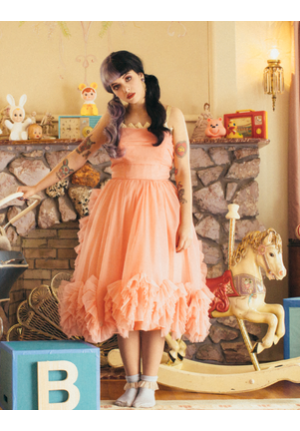 Melanie Martinez Peach Cocktail Party Homecoming Prom Dress Pity Party