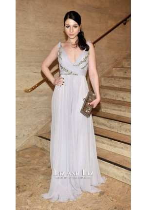 Michelle Trachtenberg Lavender Dress School Of American Ballet Winter Ball