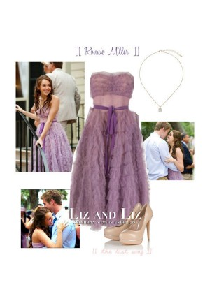 Miley Cyrus Purple Strapless Formal Celebrity Prom Dress The Last Song