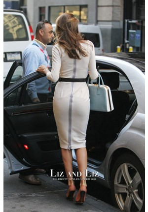 Miranda Kerr Short White Cocktail Party Celebrity Dress Out In New York City