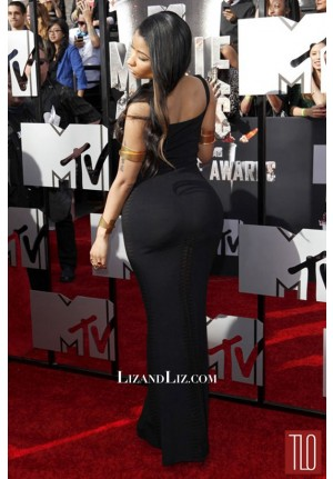 Nicki Minaj Black Evening Prom Celebrity Dress MTV Movie Awards 2014