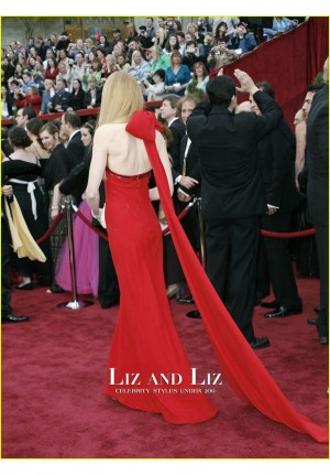 Nicole Kidman Red Halter Evening Prom Oscars 2007 Red Carpet Dress