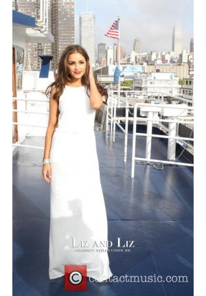 Olivia Culpo White Cut-out Prom Celebrity Dresses 21 Birthday Party