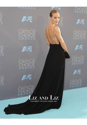 Rosie Huntington-Whiteley Black Celebrity Dress Critics' Choice Awards 2016