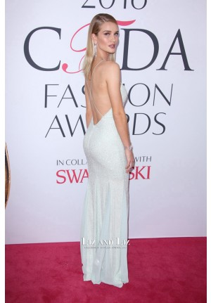 Rosie Huntington-Whiteley Sequin Prom Dress CFDA Fashion Awards 2016