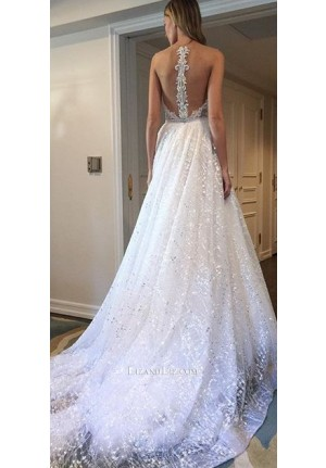 Sparkly Long Formal Strapless Ball Gown Prom Dress 2017
