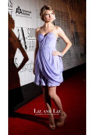 Taylor Swift Short Lavender Homecoming Dress Songwriters Hall of Fame 2010