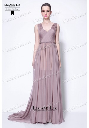 Taylor Swift Begin Again Dress Purple Chiffon Celebrity Evening Prom Gown