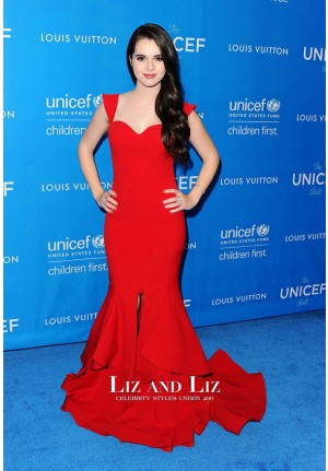 Vanessa Marano Red Mermaid Celebrity Dress UNICEF Ball 2016 Red Carpet