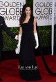 Amal Clooney Black One-shoulder Golden Globes 2015 Red Carpet Dress