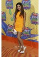 Ariana Grande Short Yellow Cocktail Party Dress Kids' Choice Awards 2014