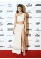Chanel Iman White Two-piece Celebrity Dress Sports Illustrated Swimsuit 2016