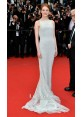 Emma Stone Pale Blue Lace Red Carpet Dress Cannes Film Festival 2015