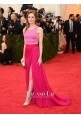 Emma Stone Pink Two-piece Evening Prom Red Carpet Dress Met Gala 2014