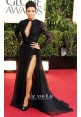Eva Longoria Black Lace Chiffon Gown 2013 Golden Globes Red Carpet Dresses