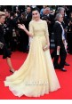 Fan Bingbing Yellow Celebrity Prom Dresses Cannes 2013 Red Carpet