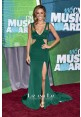 Jana Kramer Green Cut-out Celebrity Dress CMT Music Awards 2015