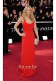 Jennifer Lawrence Red Evening Prom Gown Oscars 2011 Red Carpet Dresses