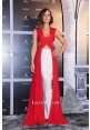 Kate Beckinsale Red White Cut-out Celebrity Dress Blood Wars Premiere