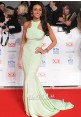 Michelle Keegan Mint Green Mermaid Dress National Television Awards 2014