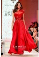 Miranda Kerr Red One-shoulder Sequined Chiffon Celebrity Dress David Jones