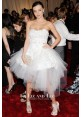 Miranda Kerr Short White Lace Celebrity Prom Dress Met Ball 2011 Red Carpet