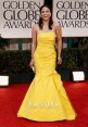 Paula Patton Yellow Prom Dress Golden Globes 2012 Red Carpet