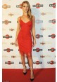 Rosie Huntington-Whiteley Inspired Short Red Cocktail Party Celebrity Dresses
