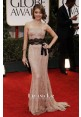 Sarah Hyland Strapless Lace Mermaid Red Carpet Dress Golden Globes 2012