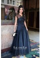 Selena Gomez Black Lace Tulle Prom Gown Celebrity Dress Who Says