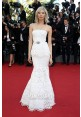 Soo-Joo Park White Lace Evening Prom Dress Cannes 2015 Red Carpet