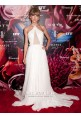 Taylor Swift White Chiffon Celebrity Dress Fragrance Foundation Awards 2013