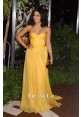 Vanessa Hudgens Yellow Strapless Chiffon Celebrity Dress Journey 2 LA Premiere