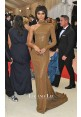 Zendaya Gold One-sleeve Sequin Celebrity Red Carpet Dresses Met Gala 2016