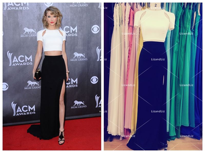 taylor-swift-black-and-white-dress-1